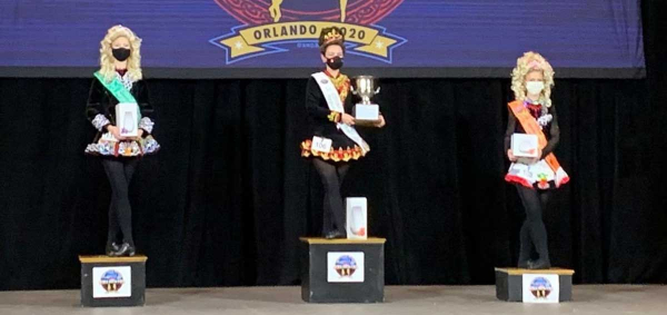 Darla Sutrich wins adult championship for North American Southern Region Oireachtas